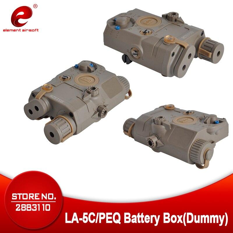 Boîtier de batterie Airsoft Element LA-5C/PEQ sans fonction Version apparence UHP pour Rails 20mm EX403