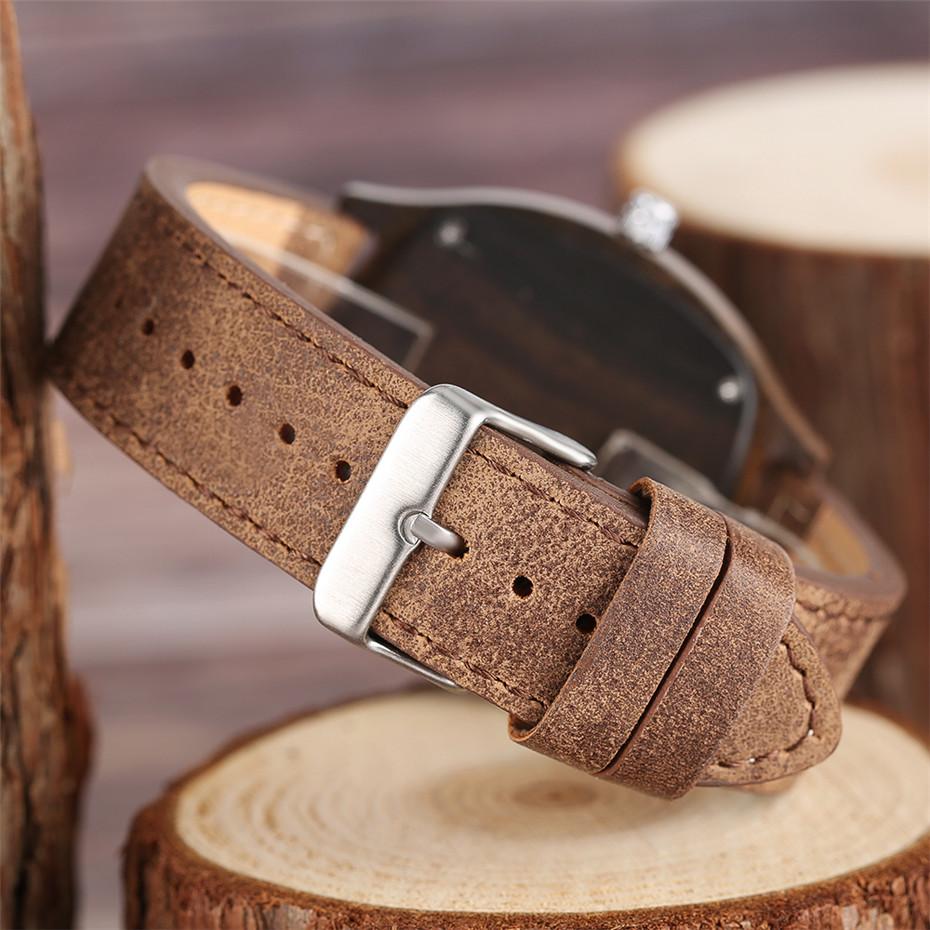 YISUYA Bamboo Wooden Watch Men Quartz Leather Band Analog Creative Watches Roman Numerals Dial Unqiue Shape Fashion Clock Gift (21)