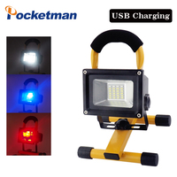 60w Rechargeable Camping Spotlights Emergency Work Light Lamp Portable Movable LED Work Lights For Fishing BBQ with car charger