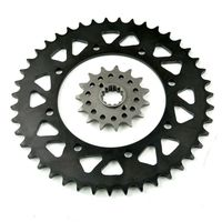 Carbon Steel Front Rear Sprocket Kit Set For Kawasaki KLR650 KL650 1990 2016 KLX650 1993