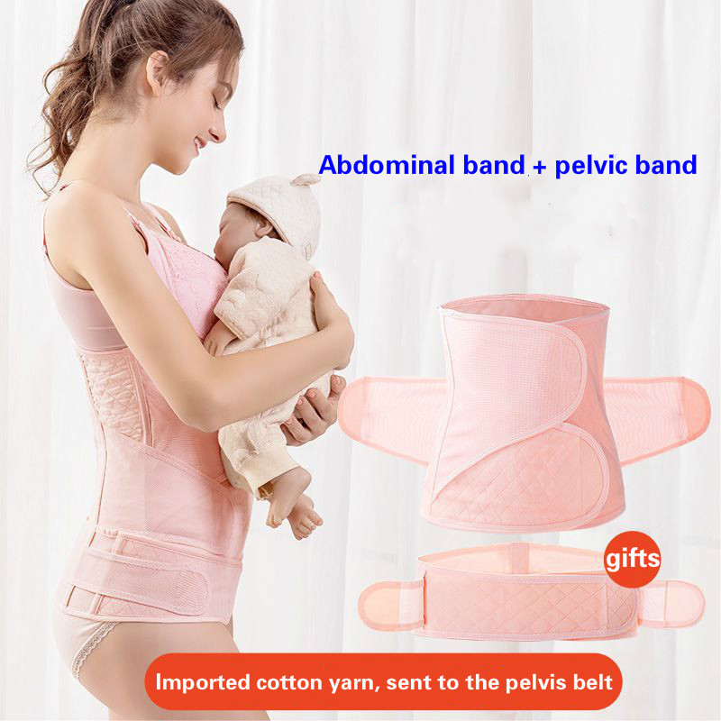 Spring Summer Pure Cotton Gauze Antenatal Postpartum Tighten Abdominal Belt Large Size Natural Birth Cesarean Spuc Belts