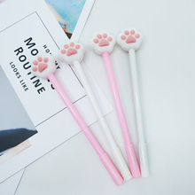 2 pcs/lot cute cartoon cats paw Gel Pen kawaii stationery School Supplies Office Cute writting pens paperlaria