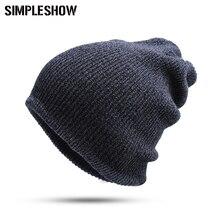 2016 New Fashion Thick Warm Winter Hat Skullies Beanies For Men Women Hat Beanies Knitted Cap Hat Warm Cap Man  Hot Sale