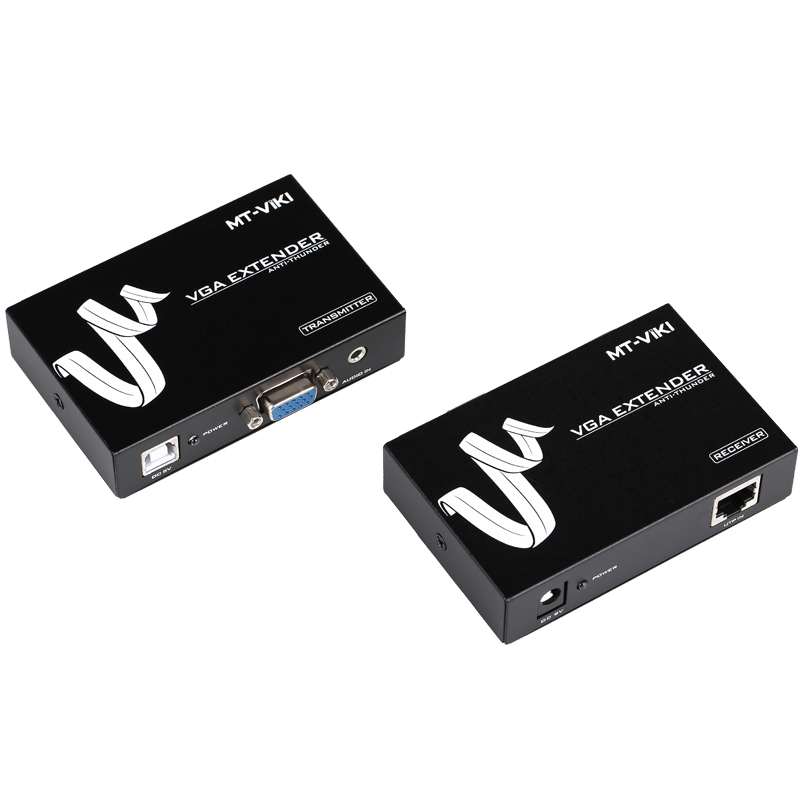 MT-Viki 50m VGA Video Audio Extender Repeater over UTP Single RJ45 CAT 5e / 6 LAN Cable best price new usb utp extender adapter over single rj45 ethernet cat5e 6 cable up to 150ft