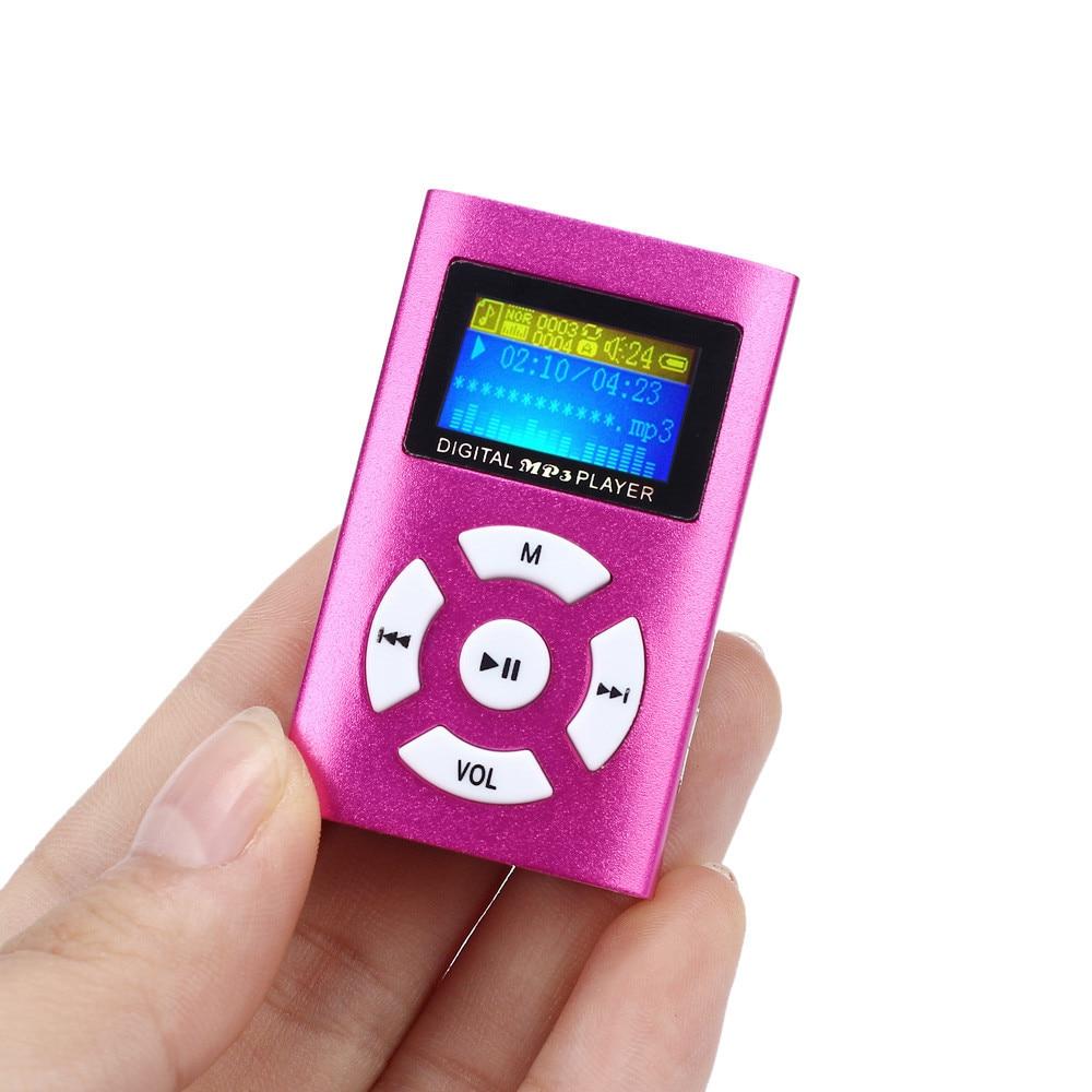 Best Price USB Mini MP3 Player LCD Screen Support 32GB