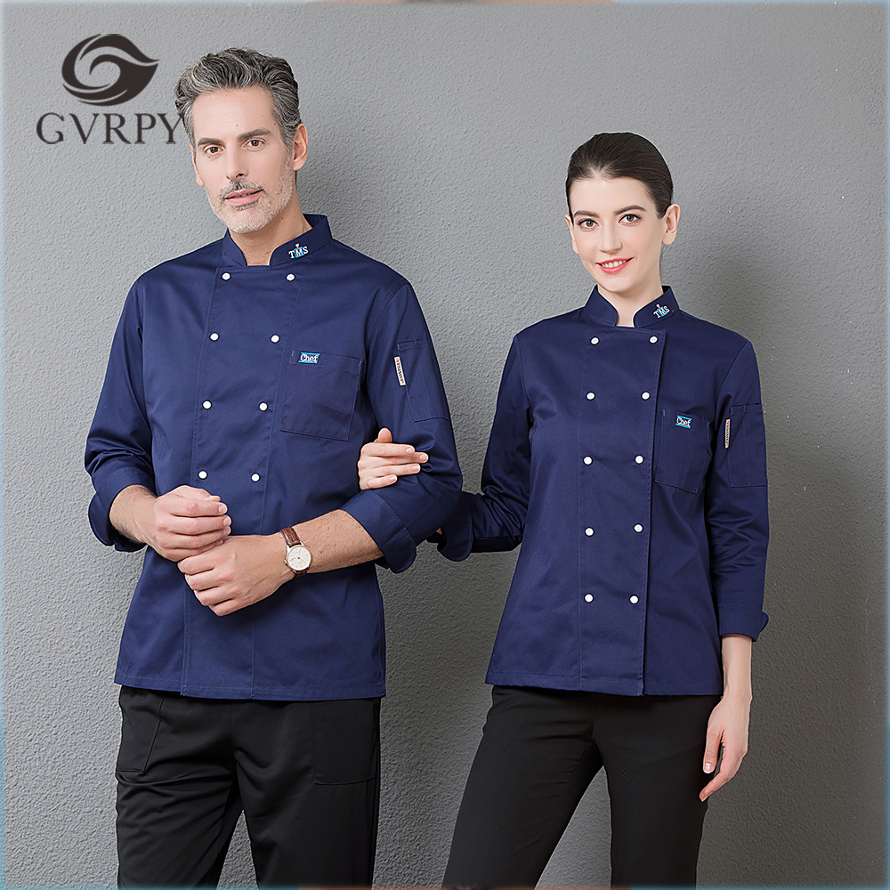 Drop Ship New Arrival Chef Cooking Jacket High Quality Restaurant Kitchen Uniform Catering Hotel Waiter Bakery Cuisine Work Suit