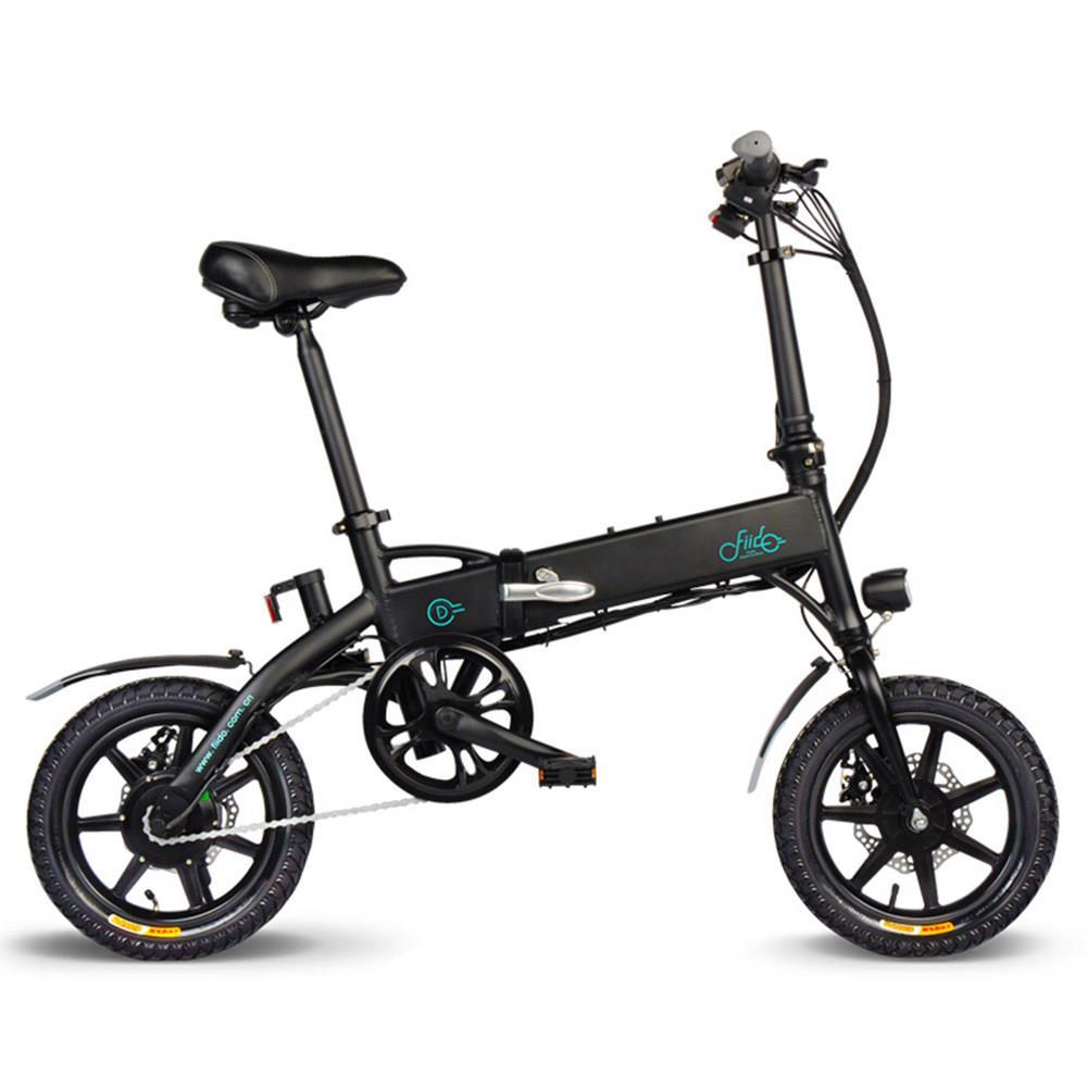 Polen lager FIIDO D1 Klapp Elektrische Moped Bike Drei Reiten Modi 14 Zoll Reifen 250W Motor 25 km/ h 10,4 Ah Batterie e bike