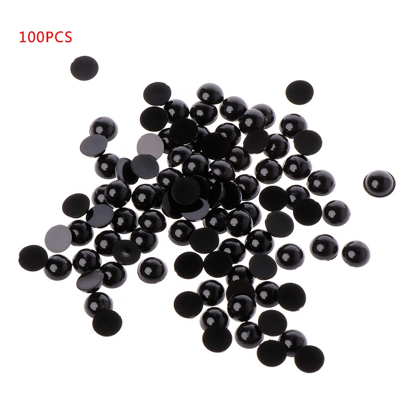 18mm Puppet Doll Plush Animal and Craft 100pcs Black Plastic Safety Eyes for Bear