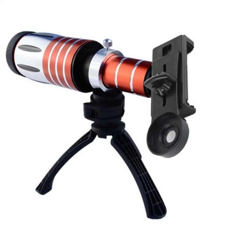 Clip universel aluminium 50X Zoom optique télescope téléobjectif pour Huawei Ascend P9 P10 Plus P8 P9 Lite nova 2 Mate S 9 8 7