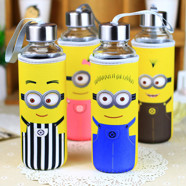 minions water my bottle with bag 360ml drinking bottle my botl cute