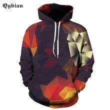 2017 Qybian Color Tetris Print Hoodies Men Hip Hop Sportswear Hoody Sweatshirt Skateboard Pullover Hoodie Man Brand Clothing