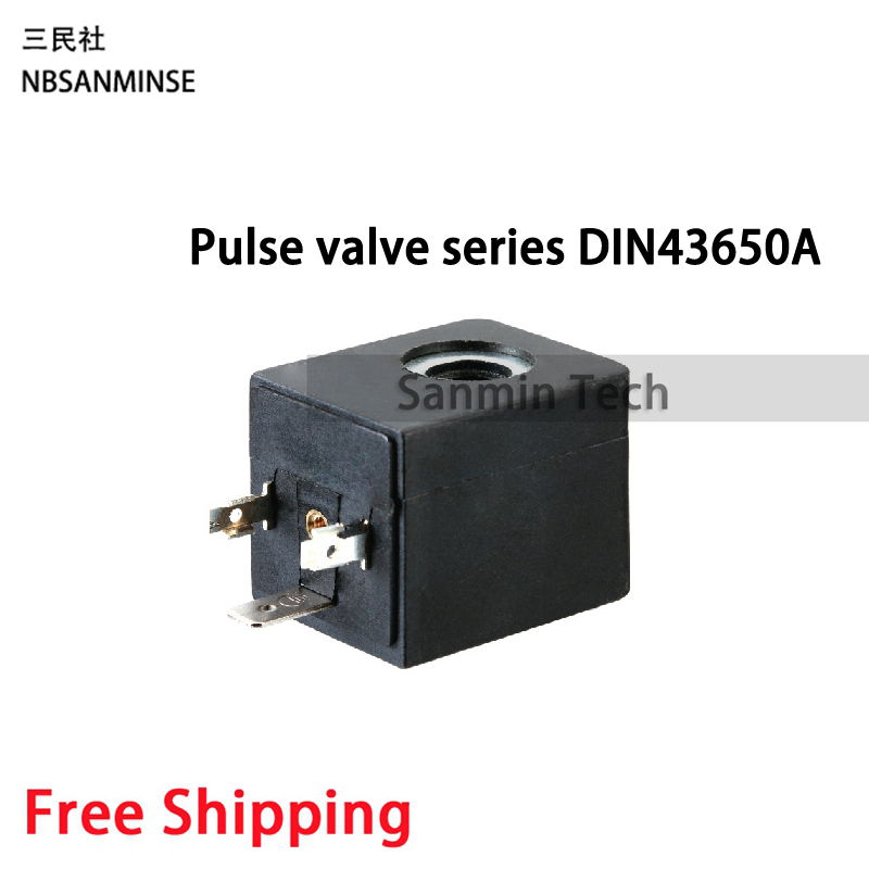 TRB Pneumatic Air Pulse Valve Solenoid Valve Coil DC12V DC24V AC110V AC220V DIN43650A Connection Type Sanmin