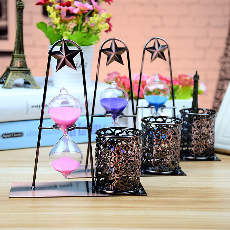 Freeshipping Iron Art Pen Holder Shackle Decoration Creative Home Office Desktop Decorative Gift стоимость