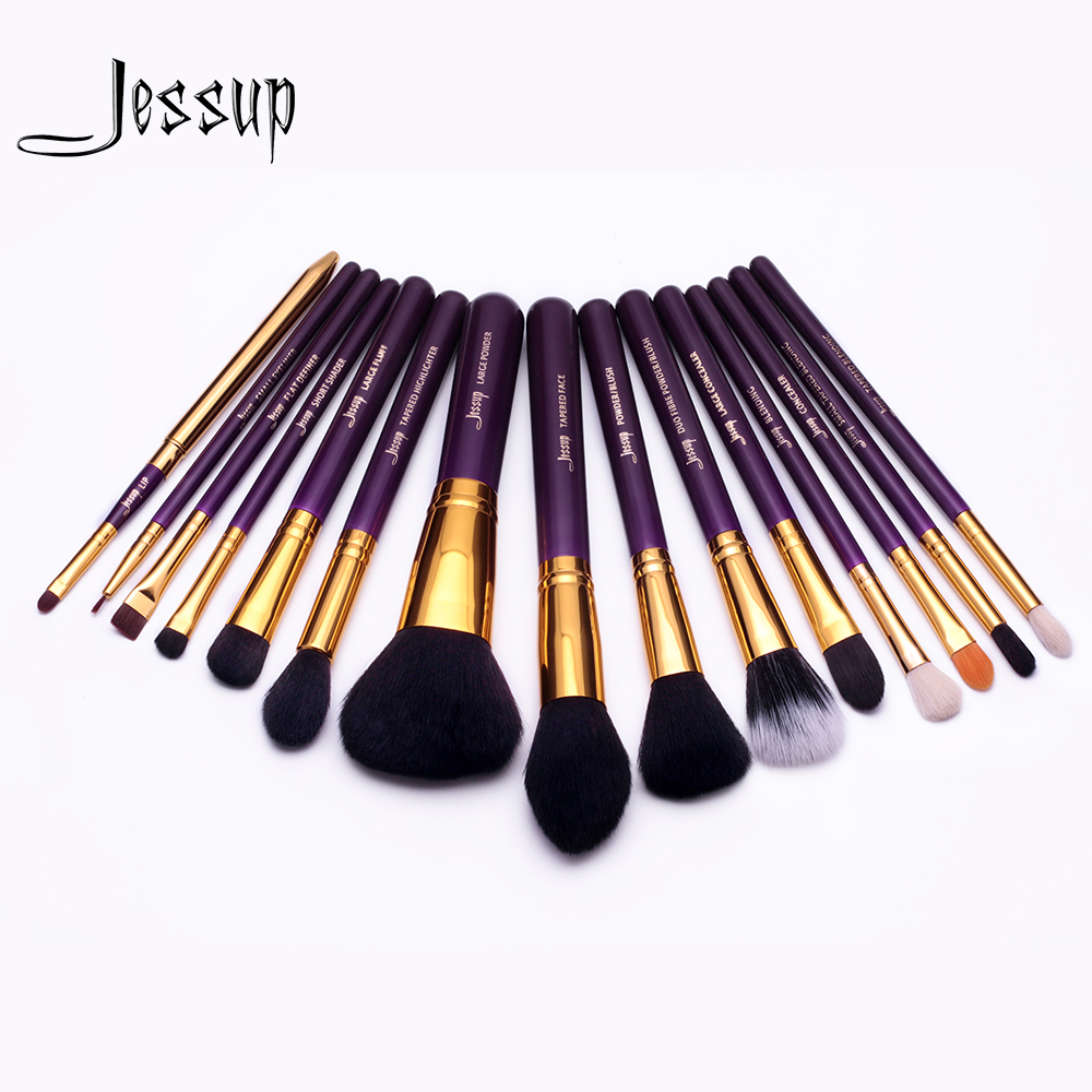 2017 Jessup brushes for makeup 15pcs Makeup Brushes Set Powder Foundation Eyeshadow Concealer Eyeliner Lip Brush Tool T095 2017 new20pcs foundation eyeshadow eyeliner lip brush tool makeup brushes set powder new