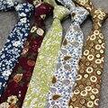 2016 Настоящее Новый Печати 3D Корейский Тощий Хлопок Галстук Мужчины цветок тонкий Atv Бесплатная свадебная мода krawatte цветочные дешевые галстуки связей