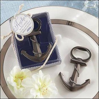 wedding favor gift and giveaways--coppery Anchor Shaped Chrome Bottle Opener bridal favors wine opener gift for guest 20pcs/lot