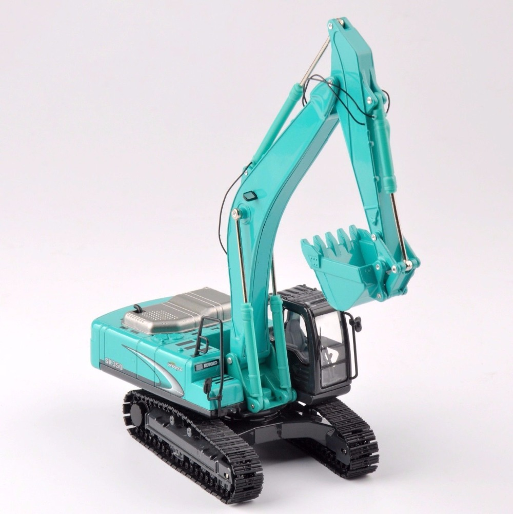 Collection Diecast 1/50 Scale SK 350 Light Blue Diecast Excavator Truck Car Vehicles Toy Model
