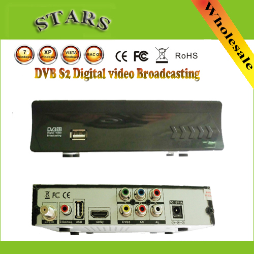 Digital Video Set Top Box DVB S2 S USB TV stick Tuner for DVB-S2/DVB-S HD satellite TV Receiver compatible Mpeg-4,Free Shipping free shipping fmuser futv4031a quad fta ird satellite receiver 4 dvb s rf input asi output av out with demodulating