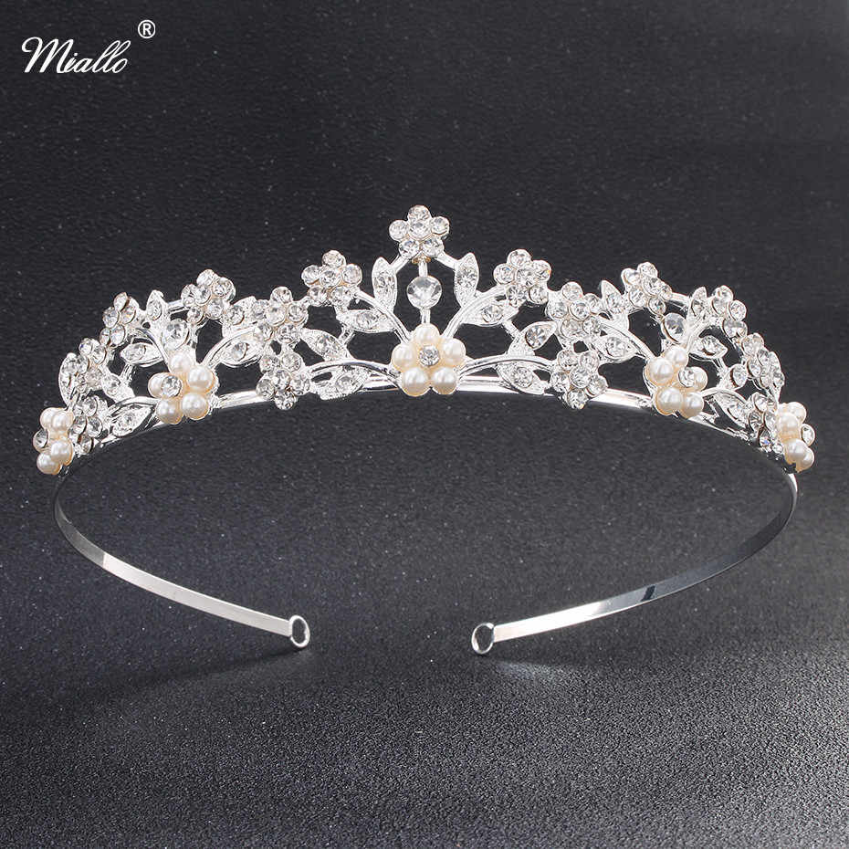 Detail Feedback Questions about Miallo Rhinestone Pearls Wedding Tiaras and  Crowns for Women Classic Austrian Crystal Stone Diadem Hair Jewelry  Accessories ... 7001189879bc
