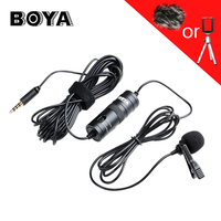 BOYA Lavalier Omnidirectional Condenser Microphone For Canon Nikon Sony For IPhone 6s Plus DSLR Camcorder Audio
