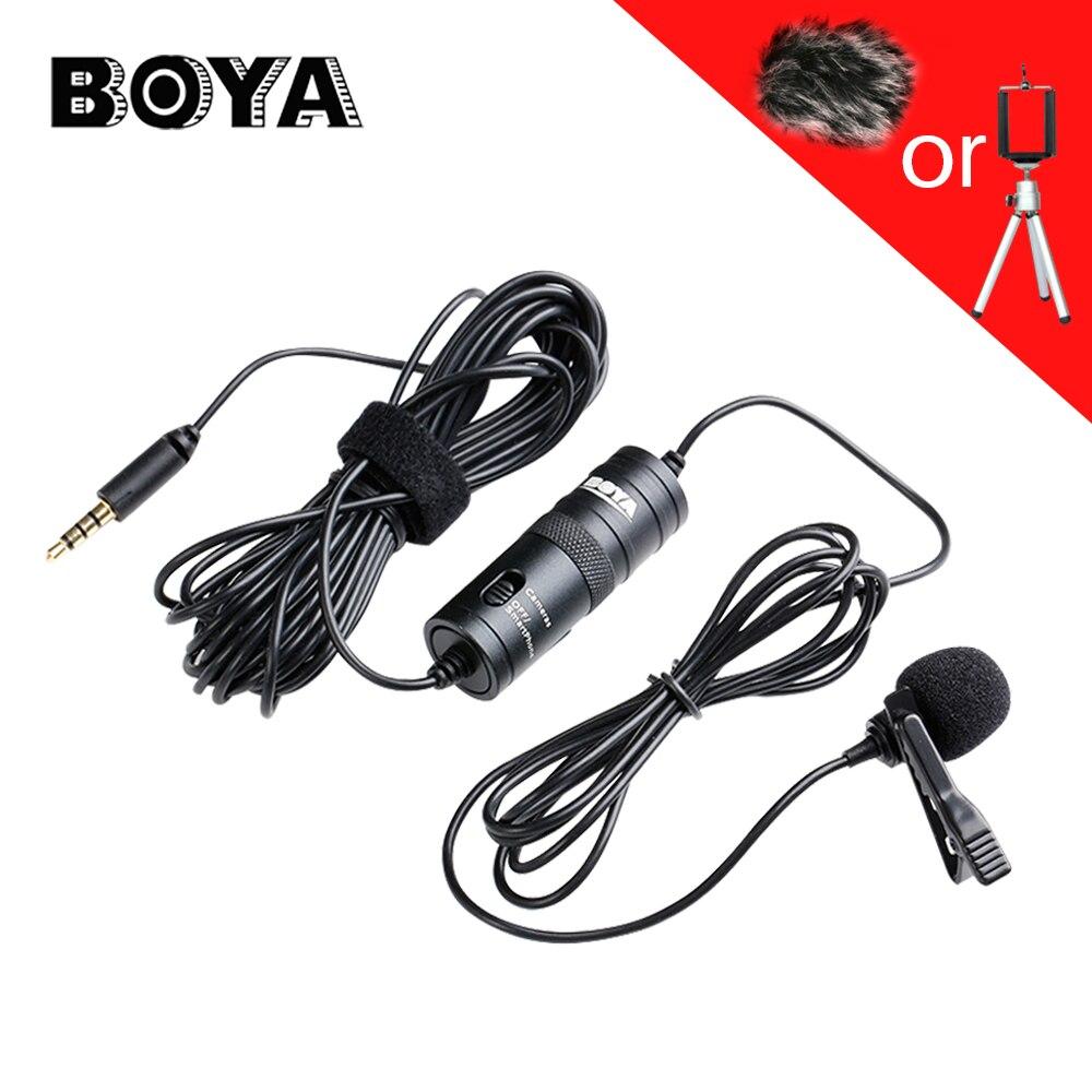 BOYA BY-M1 Lavalier micrófono condensador omnidireccional Audio para iPhone Smartphone Canon Nikon DSLR videocámara
