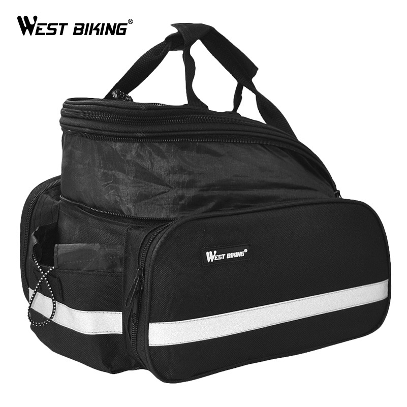 WEST BIKING Cycling Saddle Bag Waterproof Bicycle Accessories Rear RainCover Bag Volume 10-25L Riding Bicycle Bike Cycling Bag roswheel bicycle bag men women bike rear seat saddle bag crossbody bag for cycling accessories outdoor sport riding backpack
