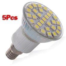 5 X E14 29 LED 5050 SMD 5W Pure White Saving Spotlight Screw Light Lamp Bulb 220V Warm white
