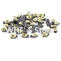 50 Pcs 6x4x2mm 4 Pin SPST Momentary Push Button Mini SMD SMT Tactile Tact Switch