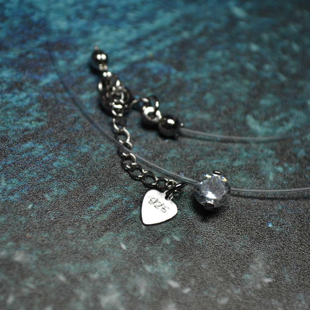Fabryka cena najwyższej jakości jasnego kryształu sześciennych cyrkon New Arrival 925 Sterling Silver naszyjnik kobiety dziewczyny biżuteria letnia