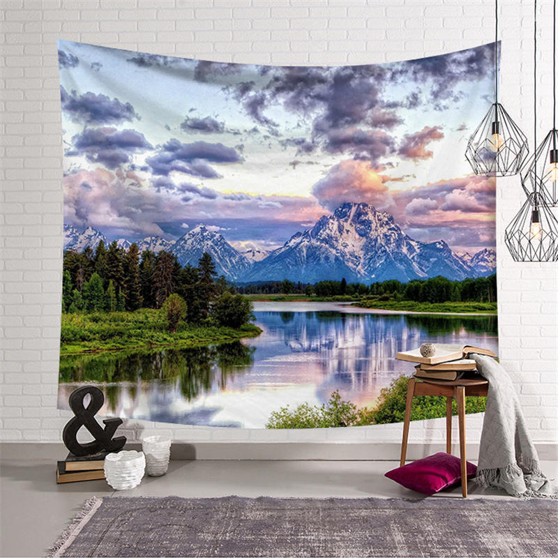 3D Landscape Print Large Tapestry Wall Hanging Hippie Mandala Throw Blanket Yoga Mat Tablecloth Beach Towel Home Decor Textile in Tapestry from Home Garden