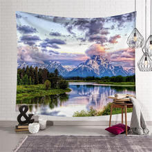 3D Landscape Print Large Tapestry Wall Hanging Hippie Mandala Throw Blanket Yoga Mat Tablecloth Beach Towel Home Decor Textile