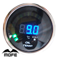 "MOFE Original Logo 52mm 2"" 20PCS Analog LED Oil Temp Gauge With Temperature Sensor + Stepper Motor"