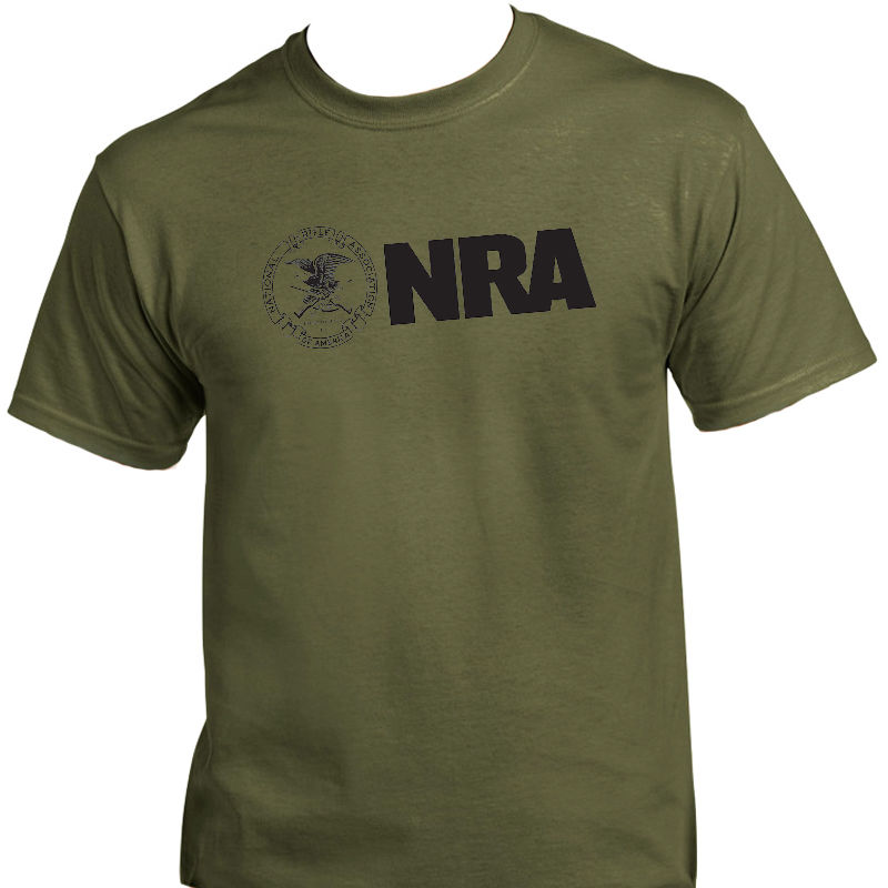 NRA,National Rifle Ass,2nd Amendment Gun T-SHIRT 2018 Fashion Solid Color Men T Shirt Sleeveless Tee Shirts image