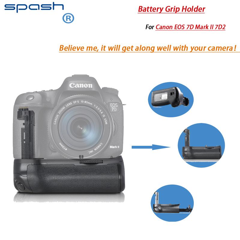 Prix pour Spash professionnel vertical batterie grip/poignée pour canon 7d mark ii dslr slr caméra remplacement bg-e16