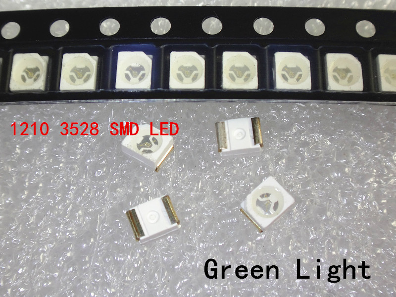 1000 шт. 3528 зеленый супер яркий светильник диод 1210 SMD СВЕТОДИОДНЫЙ