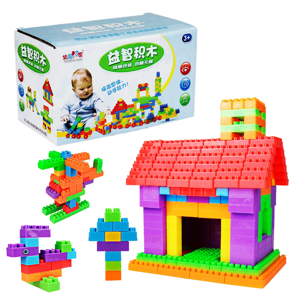 Kids toys for children 72 pcs diy building blocks big for Cost of building blocks in jamaica 2017