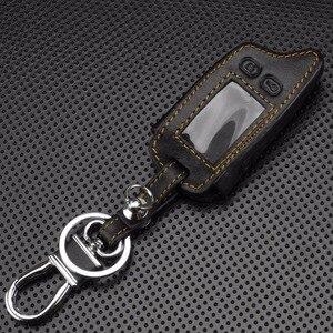 Jingyuqin 5 кнопок пульт дистанционного управления кожаный чехол для ключей для Tomahawk TW9010 TW9030 двусторонняя система сигнализации ЖК-контроллер брелок