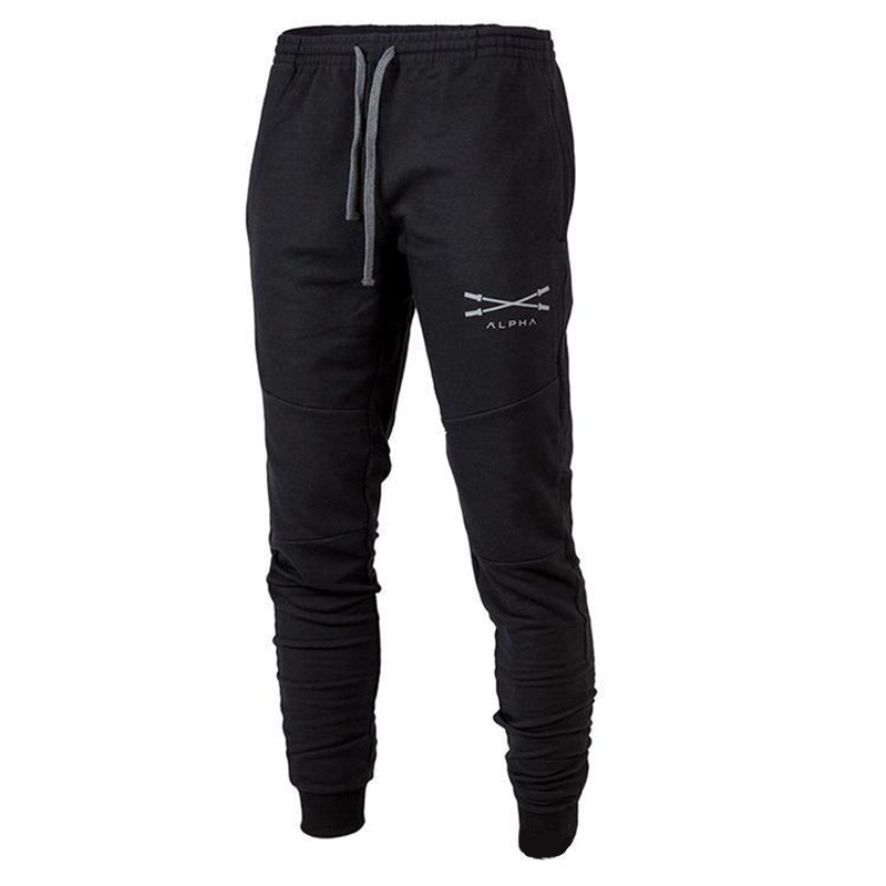 Autumn winter Men Fitness Sweatpants male gyms Bodybuilding workout cotton trousers Casual fashion sportswear Brand Pencil pants