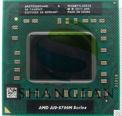AMD klēpjdators A10 5750M A10-5750m AM5750DEC44HL Socket FS1 CPU 4M kešatmiņa / 2.5GHz / četrkodolu procesors GM45 / PM45