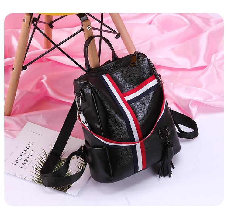 2018 New Retro Fashion Ladies Backpack 0018