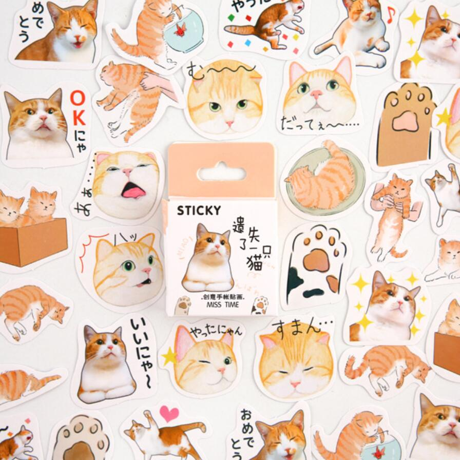 Cat Bullet Journal Stickers Set Decorative Stationery Stickers Scrapbooking DIY Diary Album Stick Lable