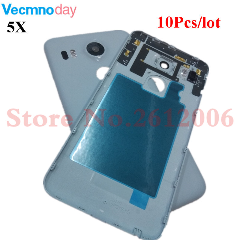 10Pcs For LG Google Nexus 5X Back Battery Cover Rear Door Housing Case Replacement Parts For