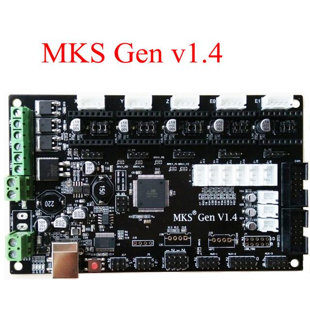 PCB controlador Ramps1.4 placa MKS Gen mainboard integrado V1.4 compatível/suporte a4988 Mega2560 R3/DRV8825/TMC2100