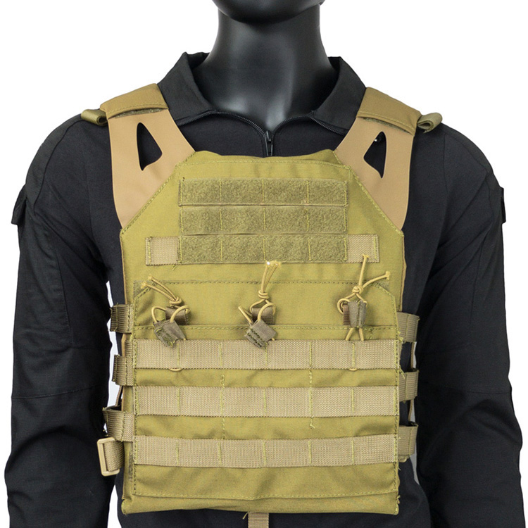Cordura JPC Jumper Plate Carrier Hypalon Strap Tactical Military Airsoft Vest Khaki(STG051190) цена