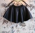 2017 Fashion Girls Tutu Skirt Children Girls Faux Leather Skirt Elastic Waist Skirts For Kids Toddler Girl Spring Black Skirt