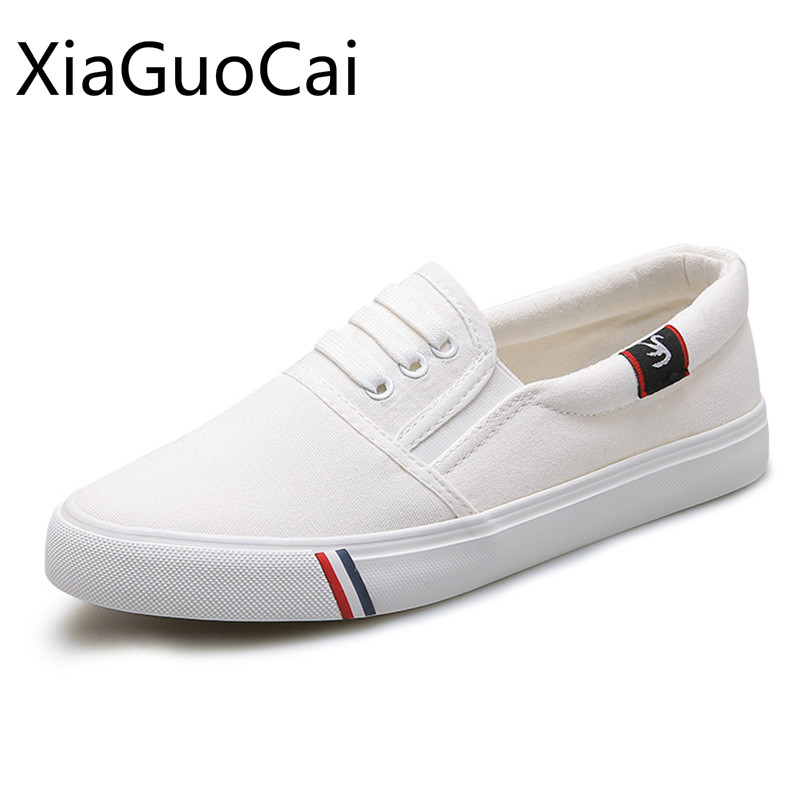 White Loafers Woman Casual Shoes Spring and Autumn Flat with Loafers for Woman Solid Female Breathable Lightweight Canvas Flats hot sale woman flat shoes breathable soft bottom wild women flats spring and autumn female loafers chaussure mujer 747