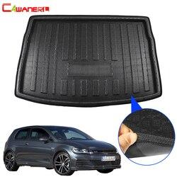 Подкладка для багажника автомобиля Cawanerl, коврик для багажника, коврик для заднего пола, коврик для груза из грязи для Volkswagen Golf 7 GTI R Hatchback ...