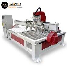 Songli 1313 кВт полностью автоматическая трехмерная машина для резьбы рекламная доска рельеф компьютерная машина для резки