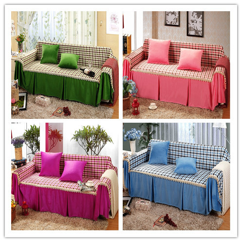 2014 Real Hot Sale Plaid Sofa Covers Home Sofa Decoration