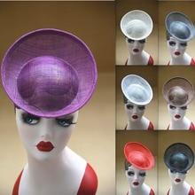 20 см круглая тарелка sinamay вдохновил шляпка набок различных мероприятий шляп база B063